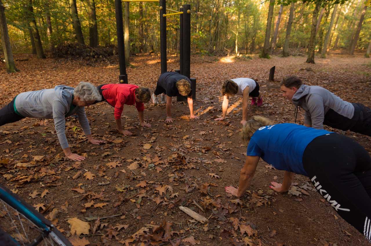 Senioren Fitness in het bos Visdonk
