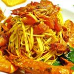 Recept pasta met gamba's