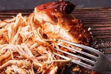 Recept voor eiwitrijke Pulled Chicken