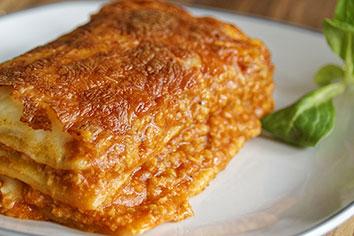 Een recept voor een gezonde lasagne
